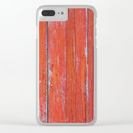 Red Rustic Fence rustic decor Clear iPhone Case