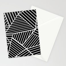 Ab Lines Zoom Black Stationery Cards