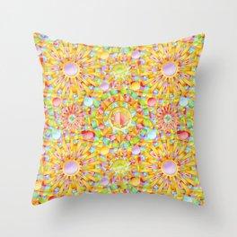 Circus Rainbow Mandala Throw Pillow