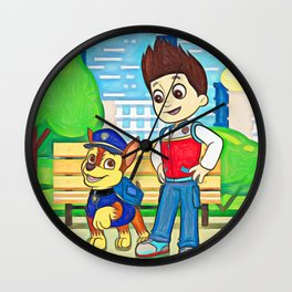 Chase & Ryder - Paw Patrol Wall Clock
