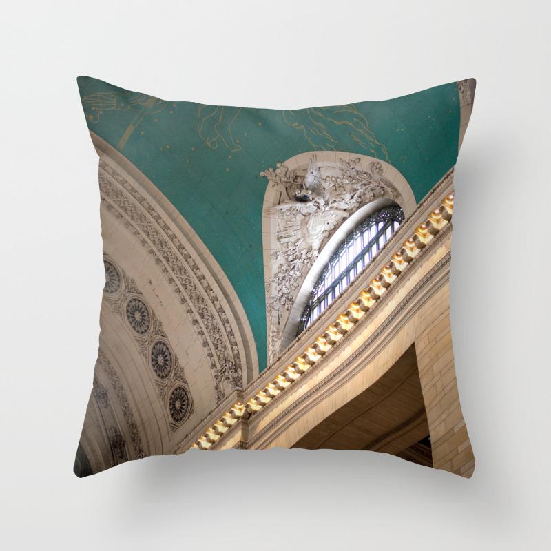 New York Grand Central Station Throw Pillow by Savannahsmiled PLW7830103