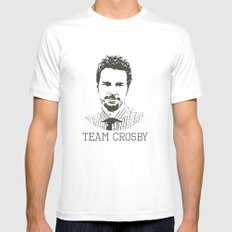 Team Crosby MEDIUM White Mens Fitted Tee