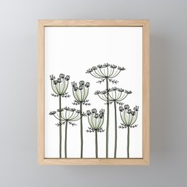 wild carrots Framed Mini Art Print