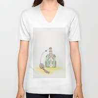 perfume V-neck T-shirts featuring Perfume by Moe Notsu