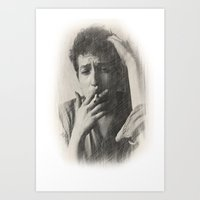 dylan Art Prints featuring Dylan by EclipseLio
