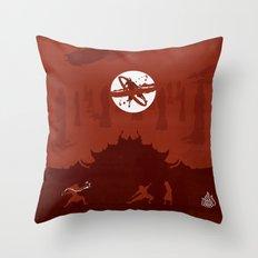 Avatar Book Fire - Version 2 Throw Pillow