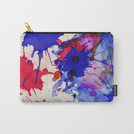 Blue & Red Color Splash Carry-All Pouch