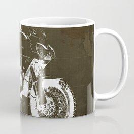 2010 Moto Guzzi Stelvio 1200 4V brown blueprint Coffee Mug