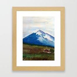 Etna Watercolor Framed Art Print