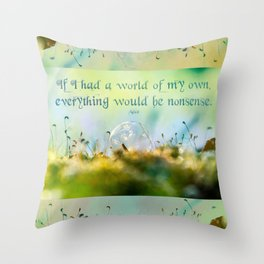 Alice's Nonsense World  Throw Pillow