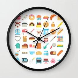 CUTE BAKERY PATTERN (CUTE CHEF BAKER) Wall Clock