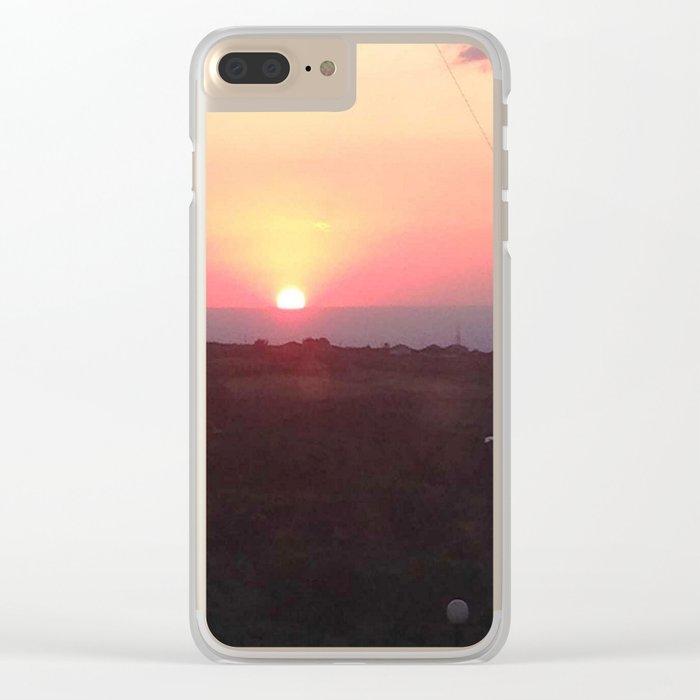 Italian Sunset 1 Clear iPhone Case