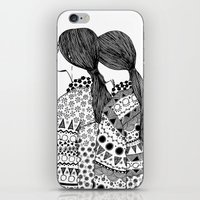 twins iPhone & iPod Skins featuring Twins by La Thai