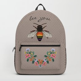 Bee You on Hive Pattern Backpack