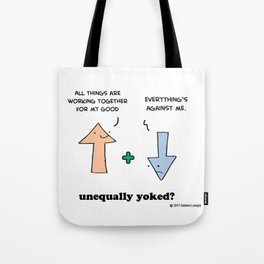 Working Out - Unequally Yoked Tote Bag