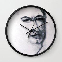 Portrait Sketch Of Artist Leslie B. De Mille Wall Clock