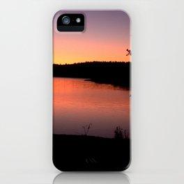 LAKE HENNESSEY - NAPA CALIFORNIA - SUNSET REFLECTION iPhone Case
