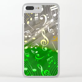 Musical Notes V Clear iPhone Case