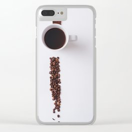 COFFEE - BEANS - CUP - PHOTOGRAPHY Clear iPhone Case