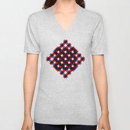 Squares Unisex V-Neck