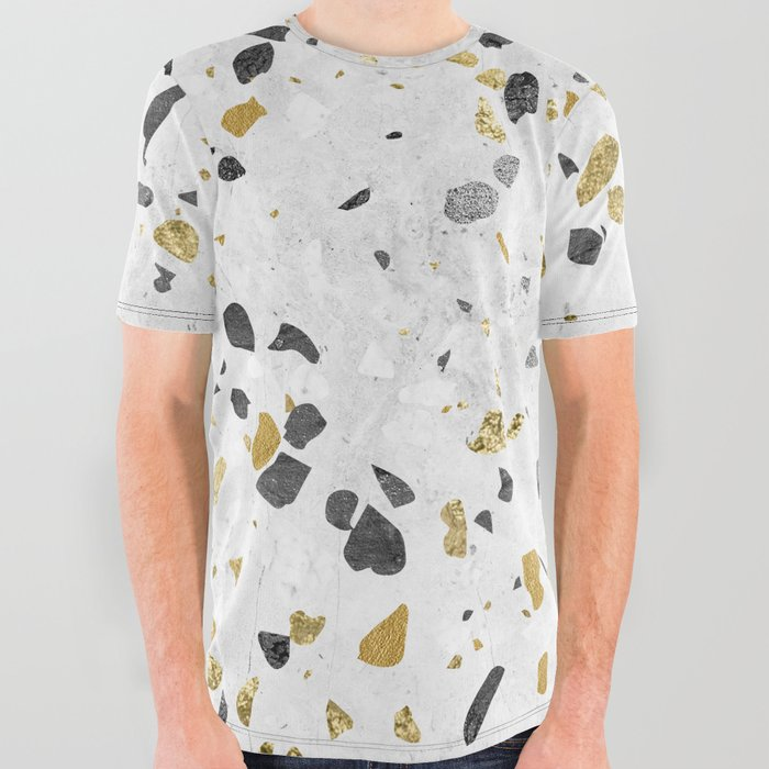 8545eda2 Glitter and Grit All Over Graphic Tee by followmeinstead   Society6