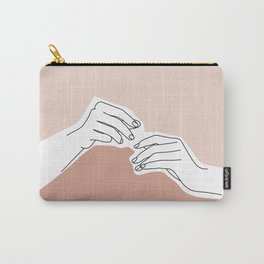 Hands line drawing - Pamela Carry-All Pouch