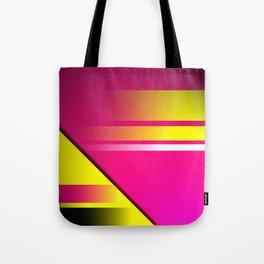 Hot Pink & Yellow Abstract Tote Bag