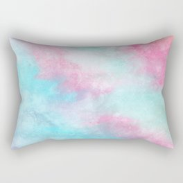 Artistic pastel girly pink teal trendy watercolor Rectangular Pillow