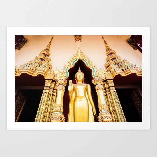 Buddha Temple Art Print