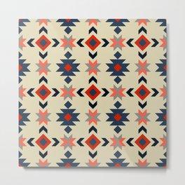 Colorful Aztec pattern Metal Print
