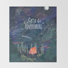 Let´s be adventurers Throw Blanket