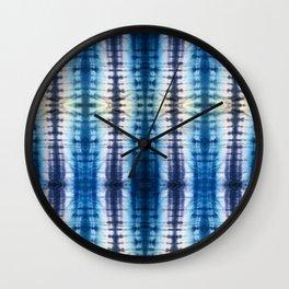 Shibori Itajime Table Wall Clock