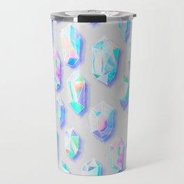 Iridescent Rainbow Crystals Travel Mug