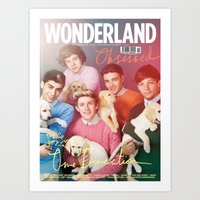 1d Art Prints featuring 1d by emma jane