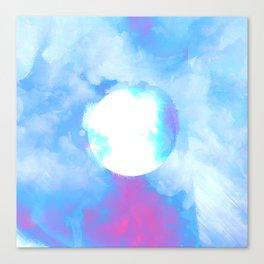 Misplaced Circle Water Canvas Print