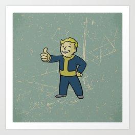 Vault Boy - fallout 4 Art Print