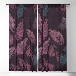 Abstract leaf painting II Blackout Curtain