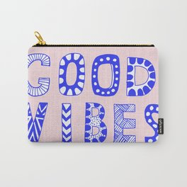 Good vibes pastel typography Carry-All Pouch