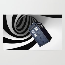 Tardis in the hole Rug