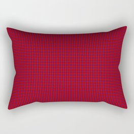 Rose Tartan Rectangular Pillow
