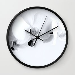 Sweet White Orchid of Mine Wall Clock