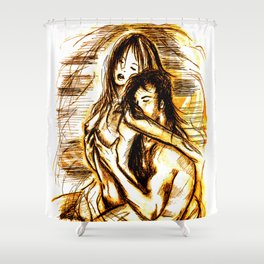 nude - passion Shower Curtain