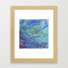 Its always our self we find in the sea Framed Art Print