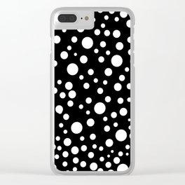 Geometric print black and white circles minimalist scandinavian Clear iPhone Case