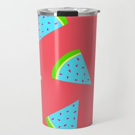 Watermelon in Neon | Watermelon Seed | Watermelon Home Decor | pulps of wood Travel Mug