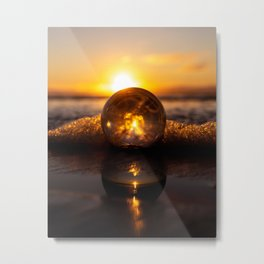 Lensball Reflection Metal Print