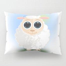 White Sheep Pillow Sham