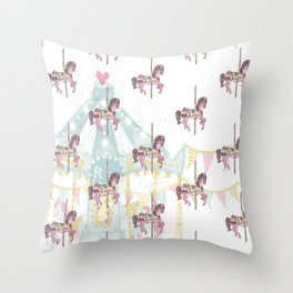 CAROUSEL Pop Art Throw Pillow