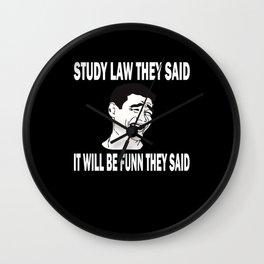 Law Student Law School Wall Clock