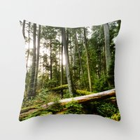 forrest Throw Pillows featuring Forrest by ILIA PHOTO + CINEMA